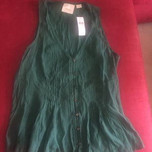 Maeve Anthropologie Pleated Top
